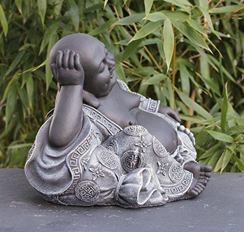 Steinfigur Buddha in Schiefergrau - 4