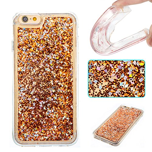 iPhone 6S Hülle, iPhone 6 Hülle, Gift_Source [ Silberne blaue Sterne ] Ultra Dünn Weiche Silikon Schutzhülle TPU Bumper Case Schutz Handy Hülle Case Tasche Etui Backcover Slim case für Apple iPhone 6s E1-Goldene Diamanten