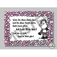"sheepworld Postkarte ""Ich hab dich lieb!"" Nr. 58"