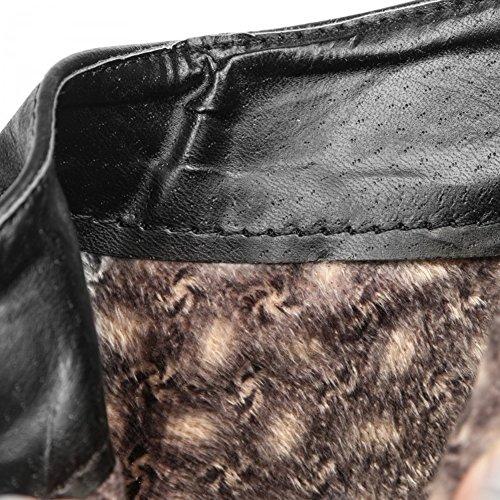 QIANGDA Le Signore Stivaletti Scarpe Con I Tacchi Bassi Moda Donna Per Abito Da Lavoro, 2 Colori Opzionale ( Colore : Nero , dimensioni : EU34= UK2 ) Nero