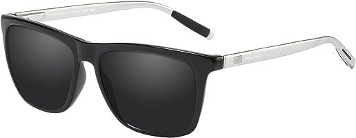 WHCREAT Unisex Retro Polarisierte Sonnenbrille Vintage Mode Design Fahren Ultraleicht Spiegel Linse für Herren und Damen