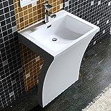 5x48x84 cm Design Standwaschbecken Colossum07 aus Gussmarmor Waschtisch Waschplatz Stand