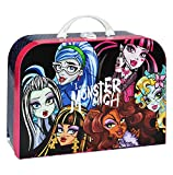 Children's Monster High - Large Doll Case Luggage Travel Suitcase Cardboard Doll Girls Pink Gothic Doll, As Indicated