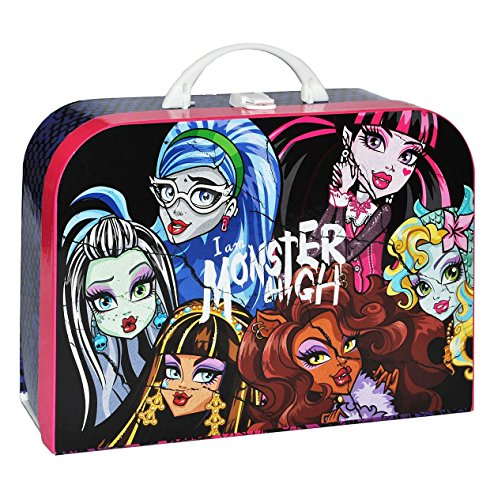 (Children's Monster High – Large Doll Case Luggage Travel Suitcase Cardboard Doll Girls Pink Gothic Doll, As Indicated)