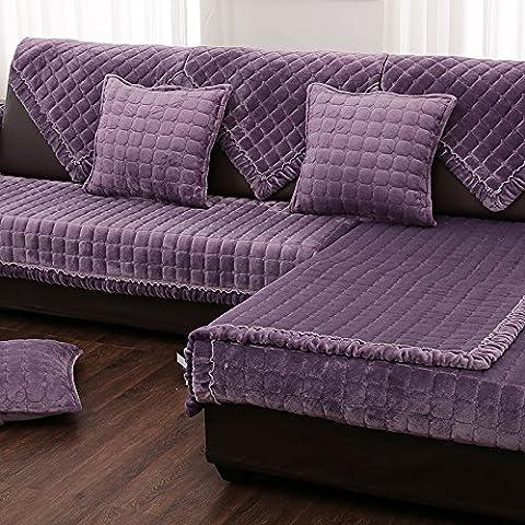New day-Invernali semplice e moderno di flanella cuoio cuscini cuscino del divano in tessuto morbido divano set di asciugamani non - slip , d , 90*120cm