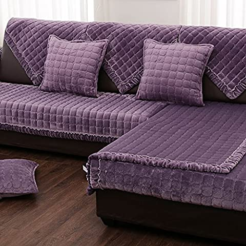 New day-?? Winter simple modern leather flannel sofa cushion cushions cloth plush sofa sets of towels non - slip , d , 90*120cm
