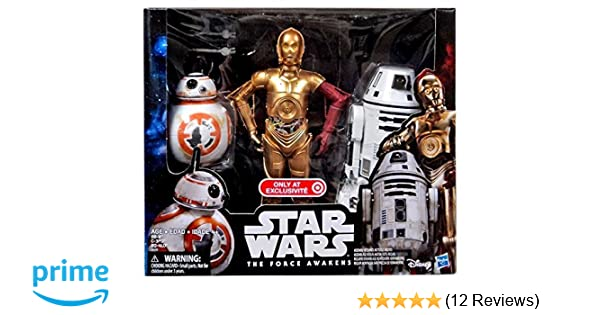 Stars Wars The Force Awakens TARGET EXCLUSIVE C-3PO BB-8 12 Inch Figure SET 2016