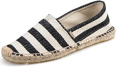 Alexis Leroy Summer Classic Stripe Canvas Flat Espadrilles Men