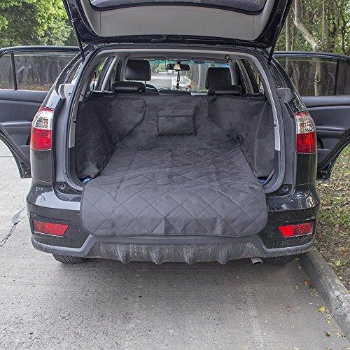 Anself Auto Kofferraum Hundedecke Autoschondecke mit Seitenschutz 132x99x43cm