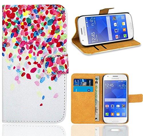 Samsung Galaxy Ace 4 G357 G357FZ Handy Tasche, FoneExpert Wallet Case Flip Cover Hüllen Etui Ledertasche Lederhülle Premium Schutzhülle für Samsung Galaxy Ace 4 G357 G357FZ