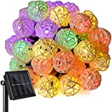 Ankway Guirlande lumineuse solaire LED 20 FT 30 LED Chaîne de Noël lumières colorées