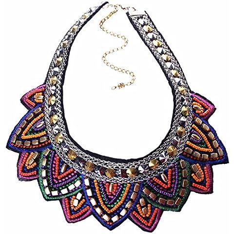 Tribal Hecha A Mano De La Joyeria De Punta Triangulo Geometrico Del Encanto Babero Collar De Gargantilla