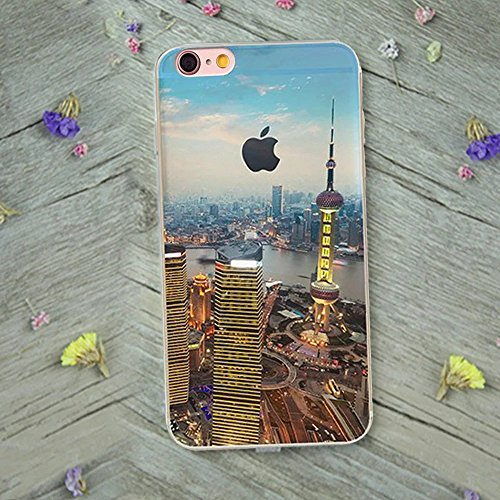 MOMDAD iPhone 6S Etui iPhone 6 6S Coque TPU Ultra-Slim pour iPhone 6 6S Souple Housse Protection Flexible Soft Case Cas Couverture pour iPhone 6 6S 4.7 Pouces Absorption de Choc Bumper et Anti-Scratch paysage Coque-1