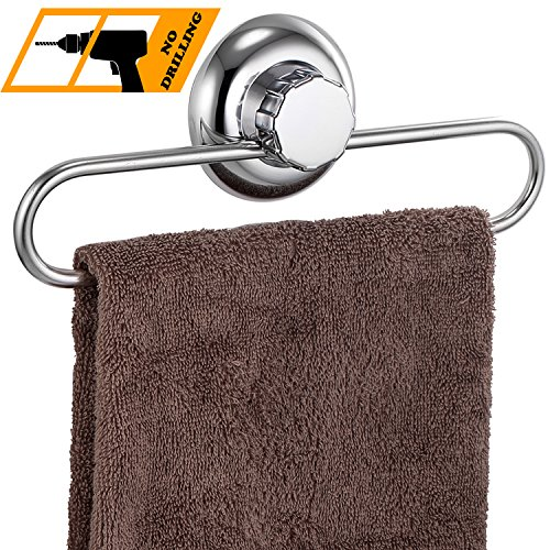 MaxHold Saugschraube Geschirrtuch Ring/Geschirrtuchhalter/Handtuchring,Befestigen ohne bohren – Edelstahl rostet nicht – Küchen & Badezimmer Aufbewahrung