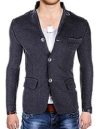 BetterStylz AsheboroBZ Homme un Bouton Veston Blazer Veste de Coustume Slim Fit Taille ajustée Homme 2 couleurs S-XL