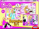 Frank Barbie 3 in 1 Puzzle, Multi Color ...