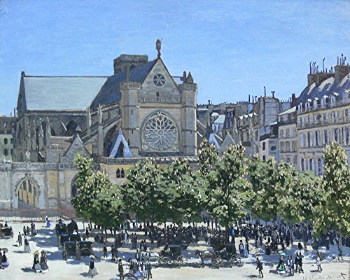 Claude Monet - Saint Germain Auxerrois Paris 1867 - Large - Matte - Brown Frame