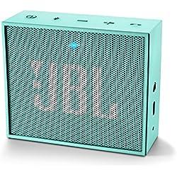 JBL Go - Altavoz portátil para smartphones, tablets y dispositivos MP3(3 W, Bluetooth, recargable, AUX, 5 horas), color verde