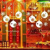 Amlaiworld Vetrofanie Natale fiocco di neve Per casa & negozio
