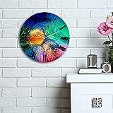 LaModaHome Home Deko 100% MDF Wand Real Running Uhr mit Art (30,5cm Durchmesser) fertig Zum Aufhängen streichen Art Mixed Colorful Painting Pinsel Muster Multi in Store.