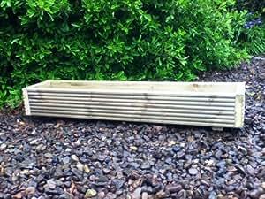 Jardinière de terrasse en bois 120x 20x 15