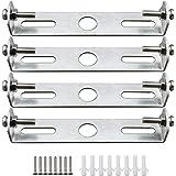 KingYH 4 Pièces 105 mm Plaque de Suspension pour Plafonnier pour Plaque de Montage Cache Base Monture pour Suspension Lustre