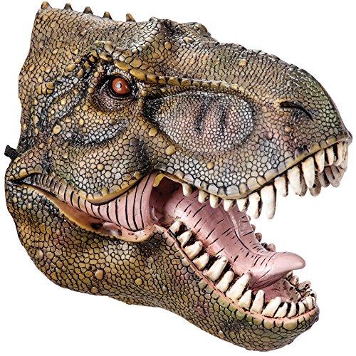Máscara de goma Eva dinosaurio e con encabezado, color verde
