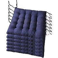 AGDLLYD Lot de 6 Coussin de Chaise et Fauteuils en Teck de Jardin Coussins de siège pour Chaises Dimensions: 40x40x5 cm…