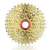 Fahrradteile Freilauf-Kassette 9Fahrrad 11-36T golden von ZTTO