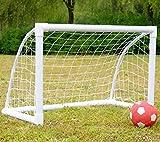 iiSPORT Fußballtor für Kinder aus starkem PVC, Fußballtor Garten mit Tragetasche, Weiß