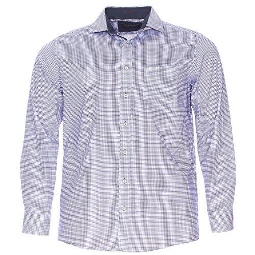 Casa moda Chemise homme grande taille Blanc, Bleu Blanc, Bleu