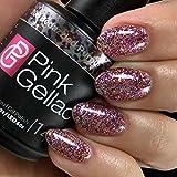 Pink Gellac Gel-Nagellack Shellac,Disco Glam Kollektion 15ml UV Nagellack farbiger Nagellack Nagellackfarben (206 Bedazzled Purple)