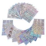 96 Designs Nagel Vinyls Nagel Schablone Sticker Blatt für Nagelkunst Design, 24...