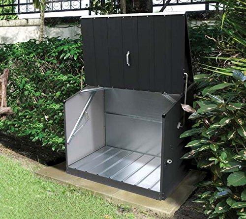 Trimetals Gerätebox, Aufbewahrungsbox, Multifunktionsbox, Fahrradbox Stowaway Anthrazit 138x89x113 cm (LxBxH); Multibox aus verzinktem Stahl - 8