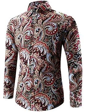 J - NEGOZIO Abbigliamento Uomo, T Shirt Uomo Maniche Lunghe Camicia Uomo, Camicia da Uomo Hawaiian Maglietta con...