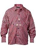 Harrys-Collection Jungen Kariertes Trachtenhemd aus 100% Baumwolle, Farben:rot, Größen:134