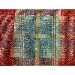 1Metre Balmoral rojo efecto de lana lavable a DE grosor diseño DE tela escocesa tapicería y cortina funda de tela