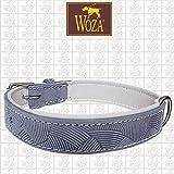 Woza Premium HUNDEHALSBAND 2,8/55CM HERMIPPE Vollleder Rindleder Nappa SATTLERNAHT Collar