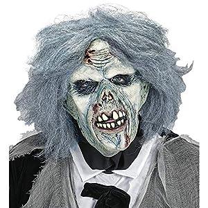 WIDMANN Máscara zombie con peluca Mens, Gris, talla única, vd-wdm02118