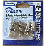 Skymaster Fiche F pour câble coaxial câble coaxial Ø 7mm Idéal pour câble coaxial quadruple blindé Lot de 83881
