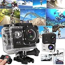 Cámara deportiva Wifi subacuática Pro Cam Action Camera 4K Ultra HD, GoPro, 16MP, gris