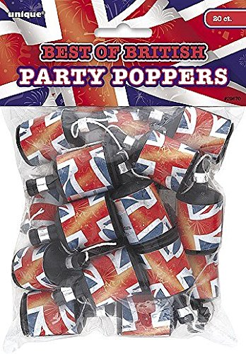of British Union Jack Party Poppers, 20Stück