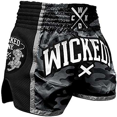 Wicked One Muay Thai Short, BTR, Camo, thaï Box Pantalon, MMA, Short, moderne Cut, L