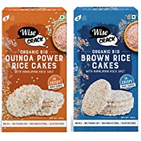 Wise Crack Organic Rice Cakes - Brown Rice 105g, Quinoa Power 105g (Pack of 2) | Gluten Free, No transfat, No Oil, No…