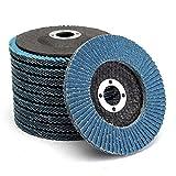 Wishfive 10pcs 4 Inch 80 Grit Flap Disc Sanding Grinding Wheels