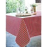 Tischdecke aus Wachstuch 140x 250cm Andrew rot