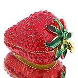 H&D Süßes Geschenk-Schmuck-Box-Paket, für Ring Halskette Ohrring Schmuck Geschenk für Frauen, Strawberry