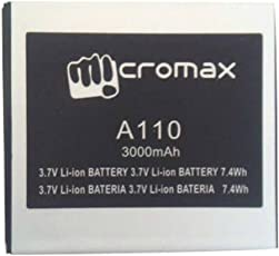 mjr Replacement Battery for Micromax A110 Canvas 2 + mjr Freebie worth rs.125