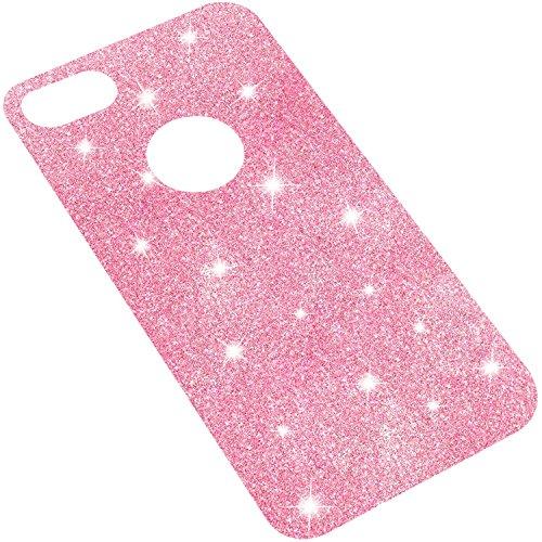 """iPhone 8 & 7 Glitzer-hülle, TheSmartGuard iPhone 8 & 7 Glitzerfolie mit Transparenter Hülle / Case zum einlegen zwischen Hülle und iPhone 8 & 7 (4.7"""") in Pink Glitzerfolie Pink mit Hülle"""