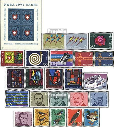 Prophila Collection Svizzera 940-941 Coppia (Completa Edizione) 1971 Anni di Eventi (Francobolli per i Collezionisti) Altri Sport